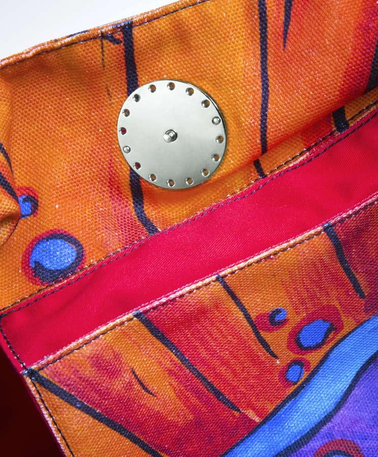 zummy bag arancione bottone