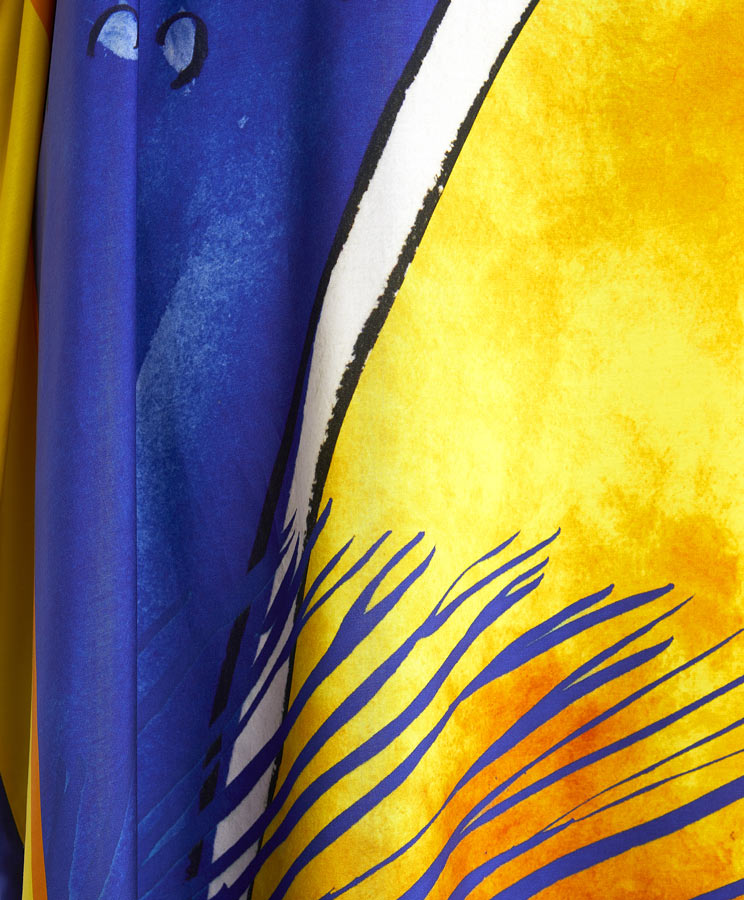 zummy caftano giallo blu trama