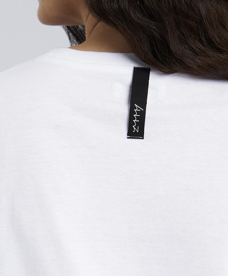 zummy tshirt bianca etichetta