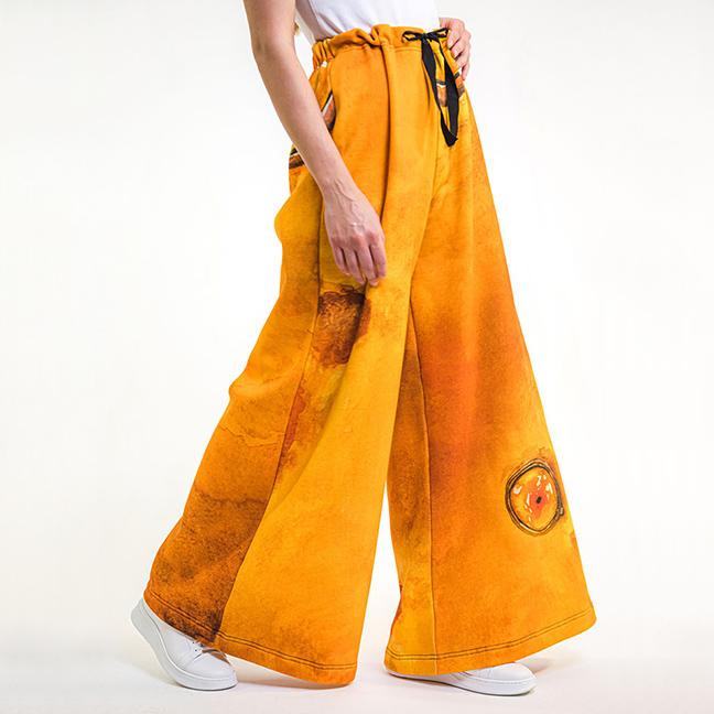 zummy pantaloni gialli felpa fall winter