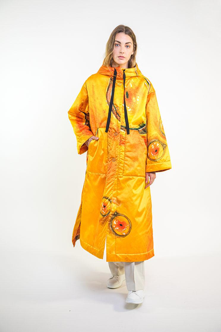 zummy piumino donna giallo frontale