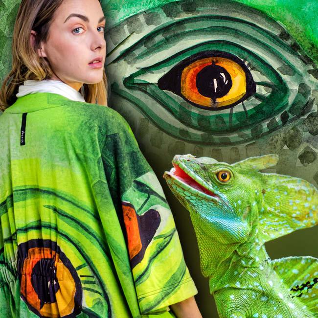 cardigan verde da moda sostenibile zummy