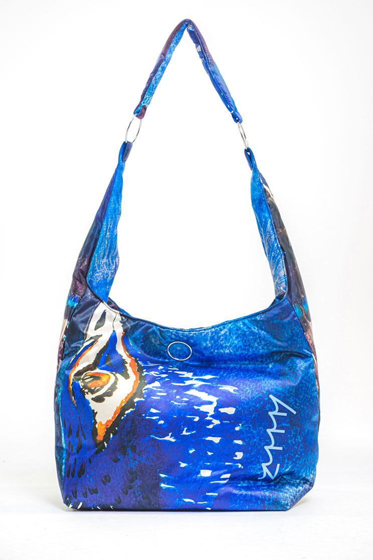 zummy borsa sostenibile donna blu frontale
