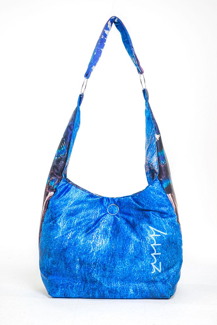 zummy borsa sostenibile donna blu retro