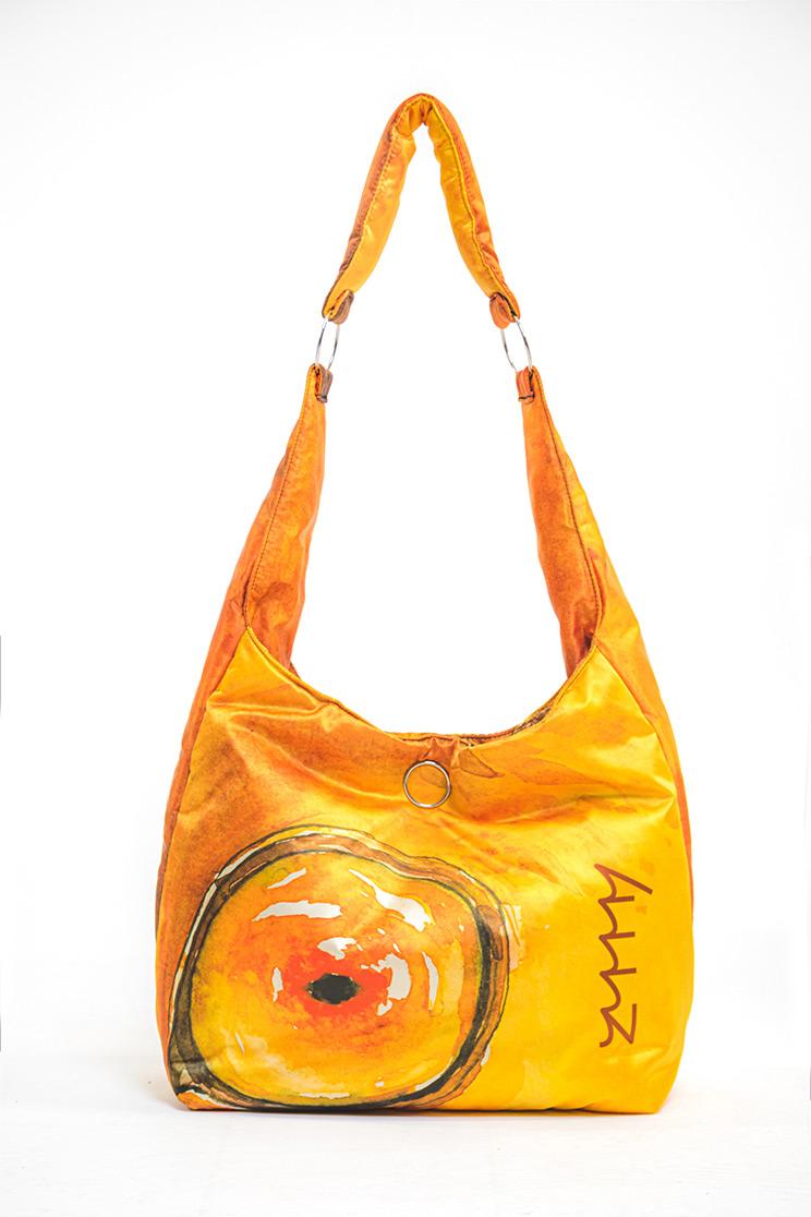 zummy borsa sostenibile donna gialla frontale
