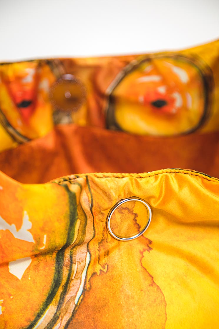 zummy borsa sostenibile donna giallo bottone