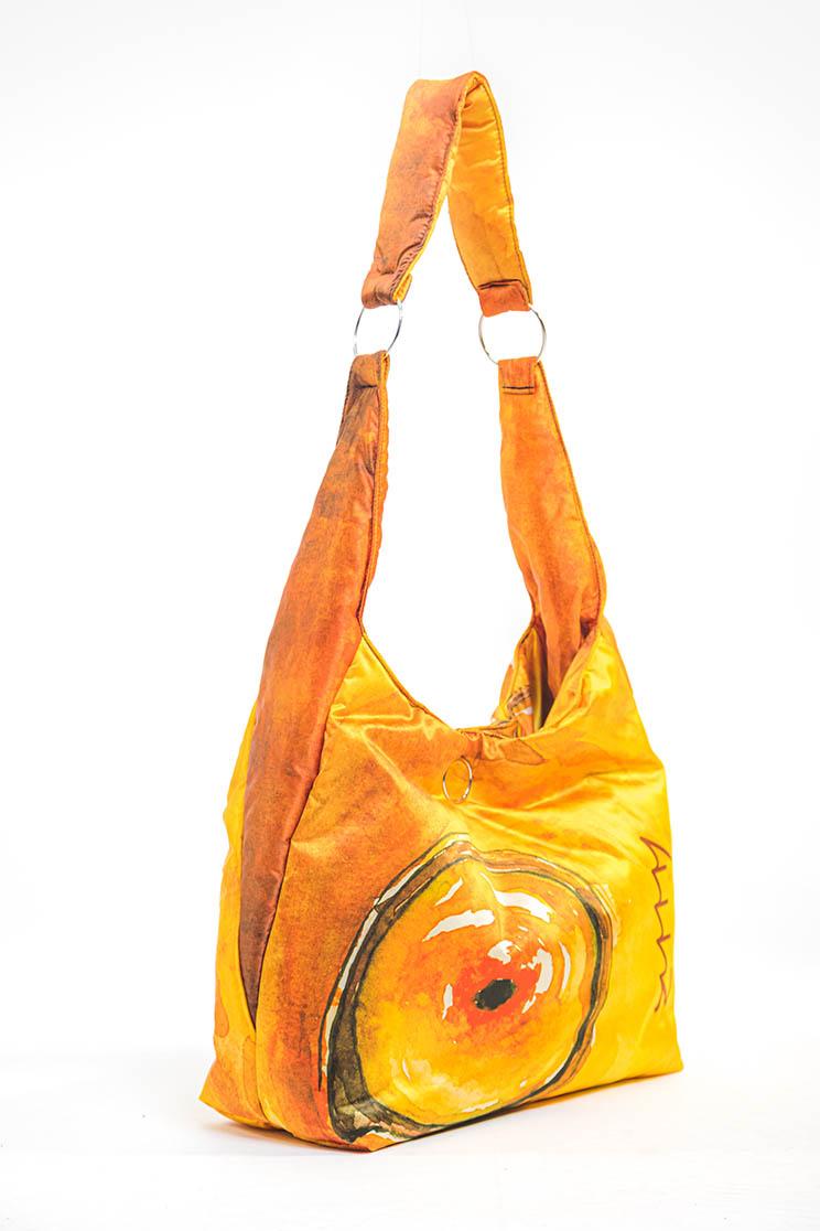 zummy borsa sostenibile donna giallo laterale