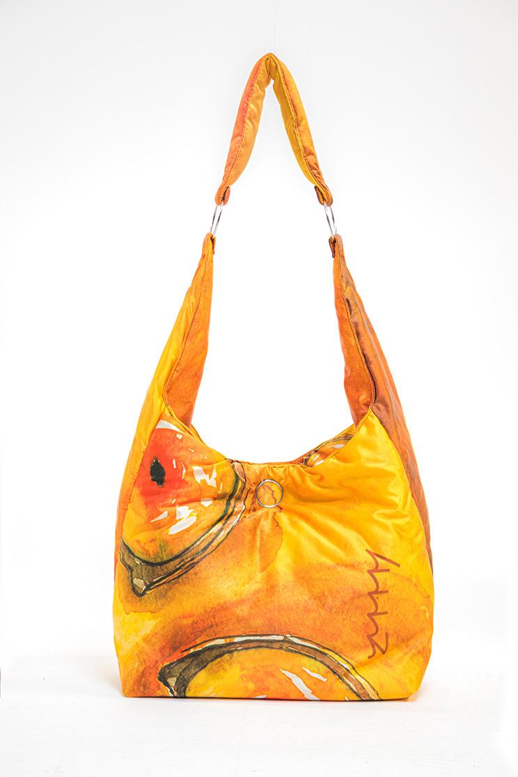 zummy borsa sostenibile donna giallo retro