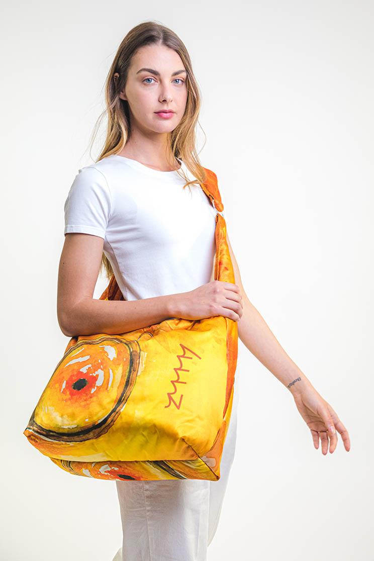 zummy borsa sostenibile donna giallo tracolla