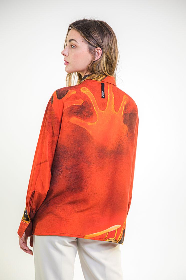 zummy camicia rossa retro