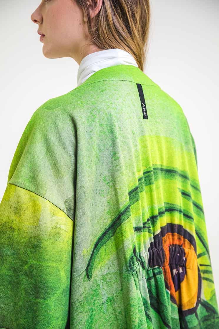 zummy cardigan verde dettaglio retro