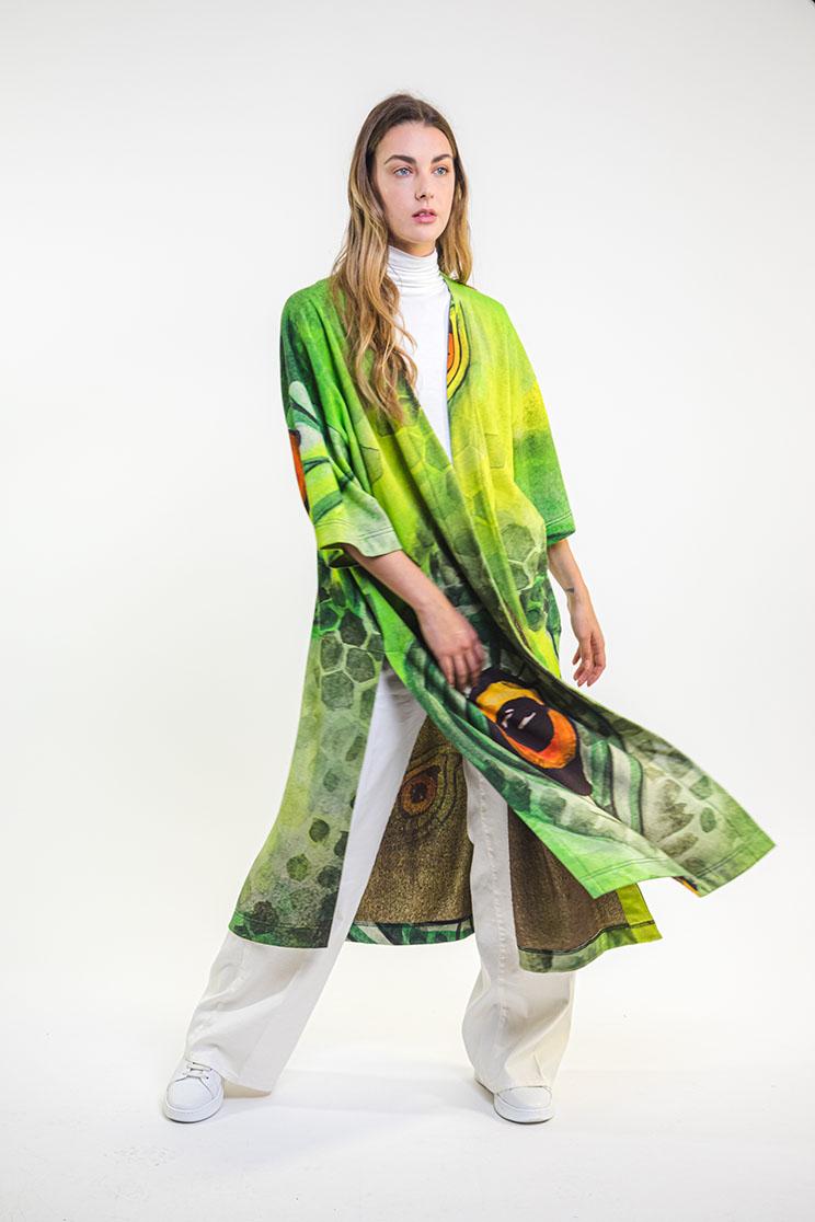 zummy cardigan verde fronte