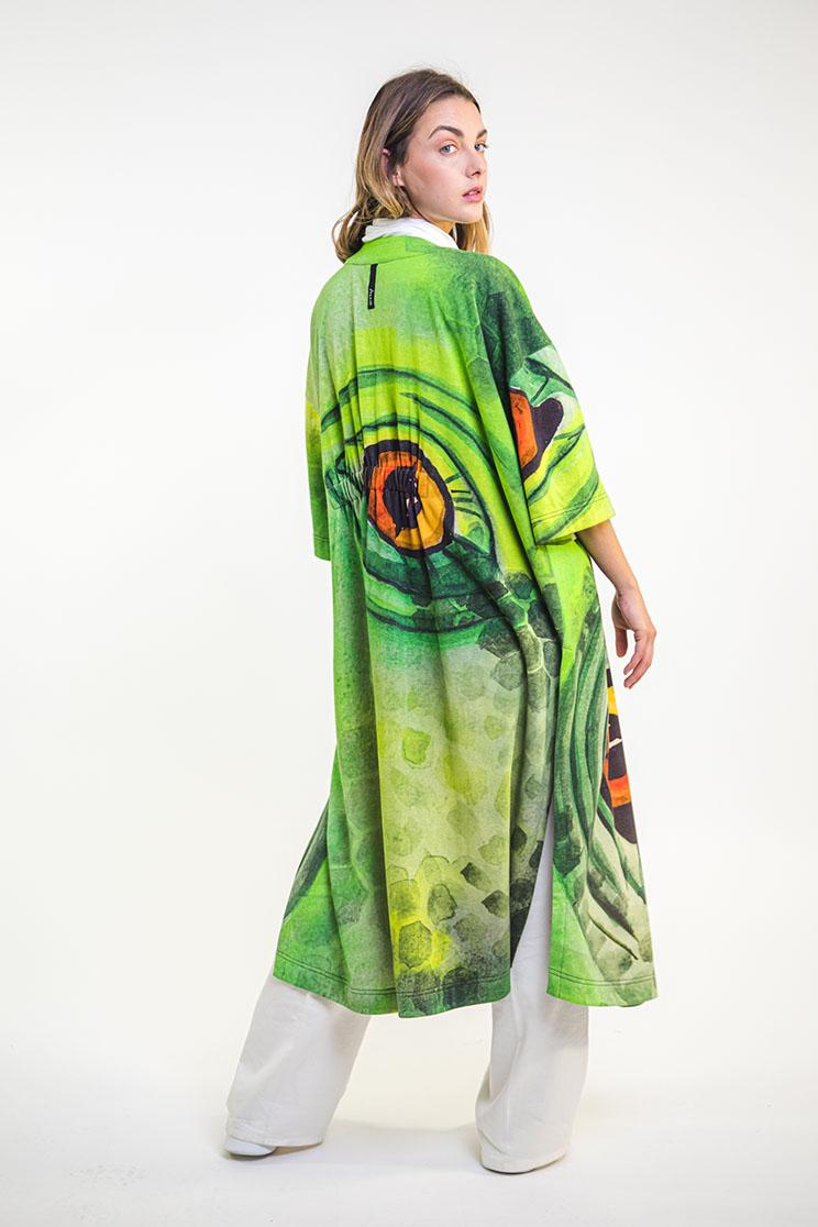 zummy cardigan verde retro