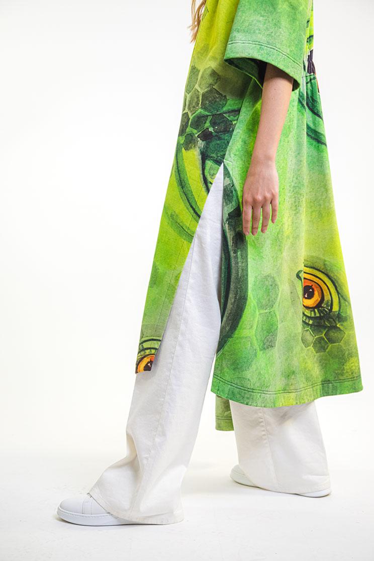 zummy cardigan verde spacco