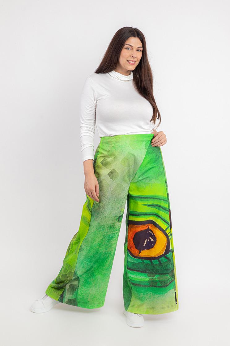 zummy pantalone elegante verde fronte curvy