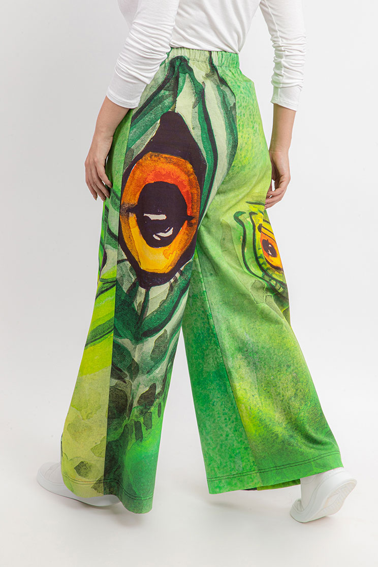 zummy pantalone elegante verde retro curvy