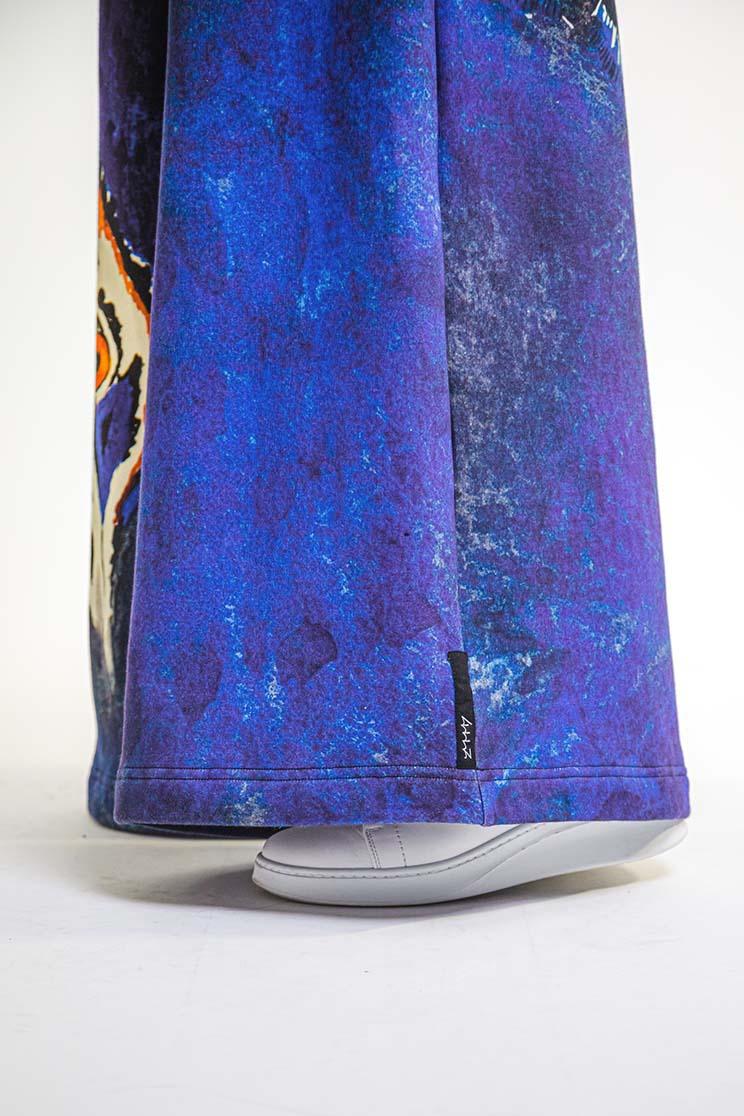 zummy pantalone felpa blu etichetta copia