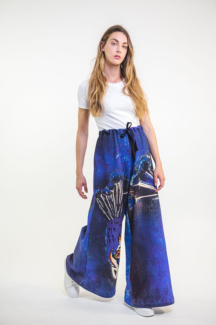 zummy pantalone felpa blu fronte