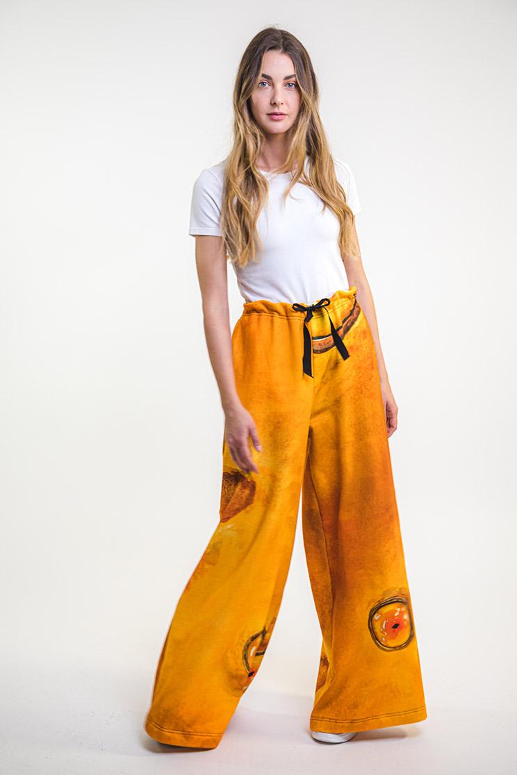 zummy pantalone felpa giallo fronte