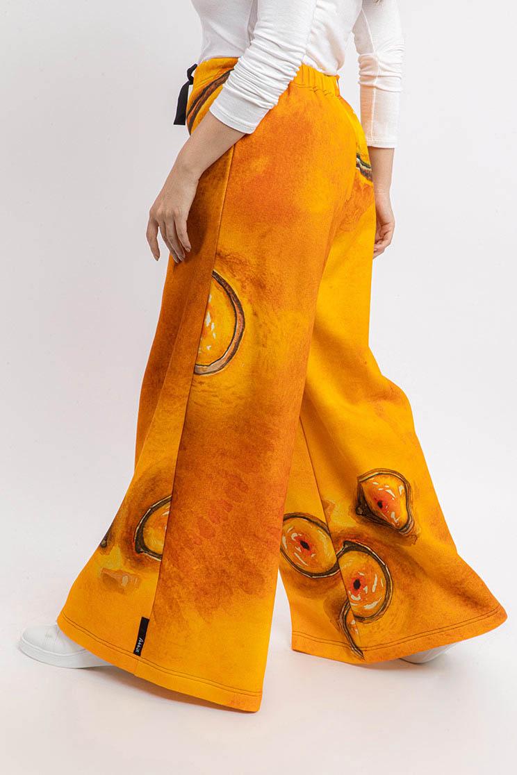 zummy pantalone felpa giallo retro dettaglio curvy