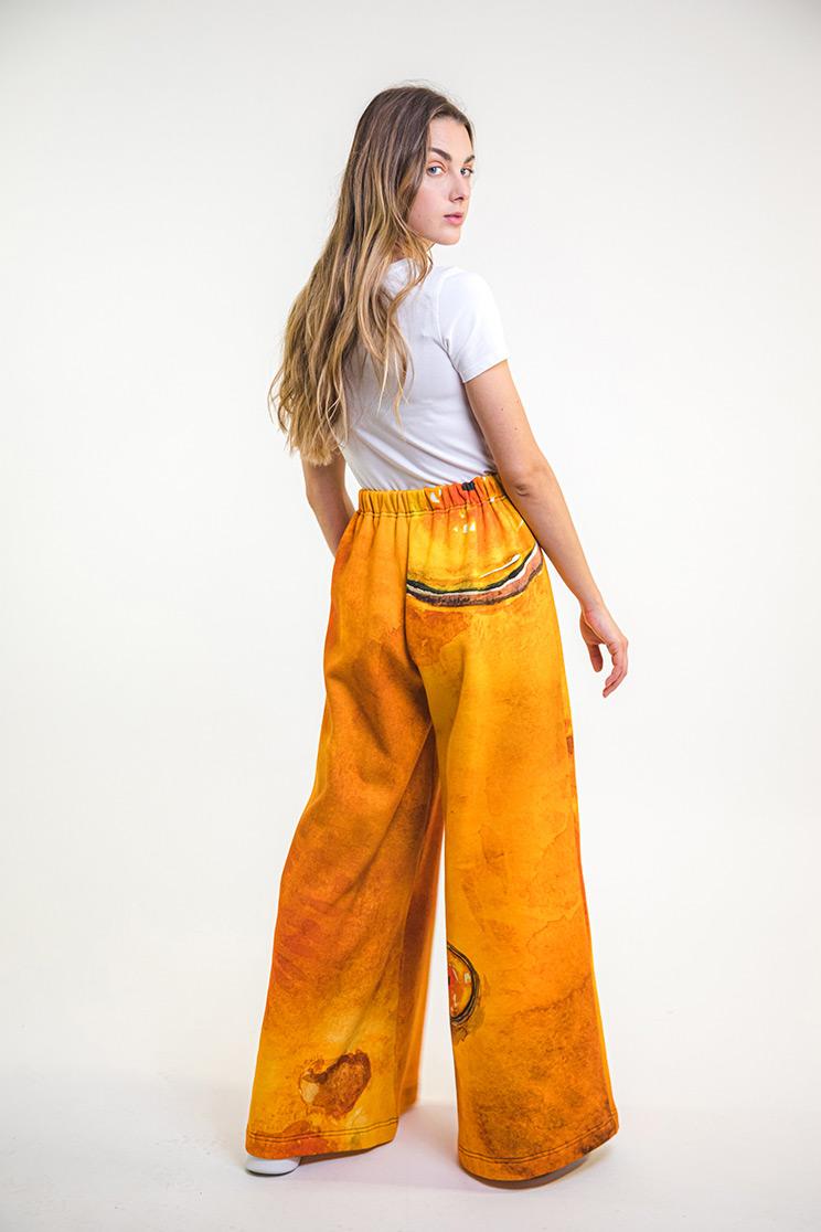 zummy pantalone felpa giallo retro
