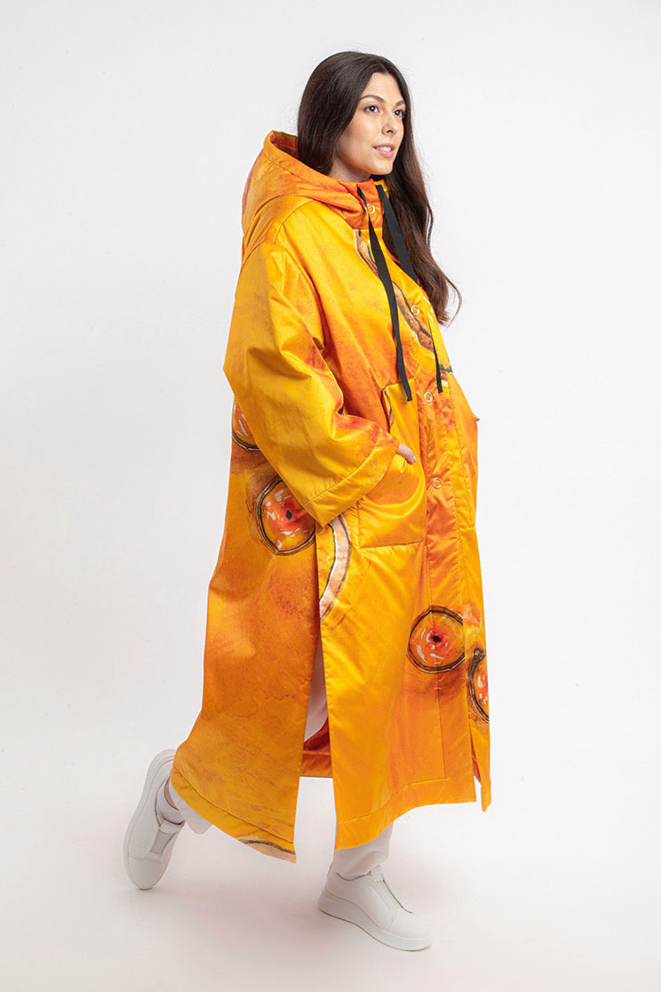 zummy piumino donna giallo frontale curvy