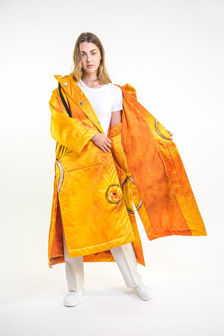 zummy piumino donna giallo interno
