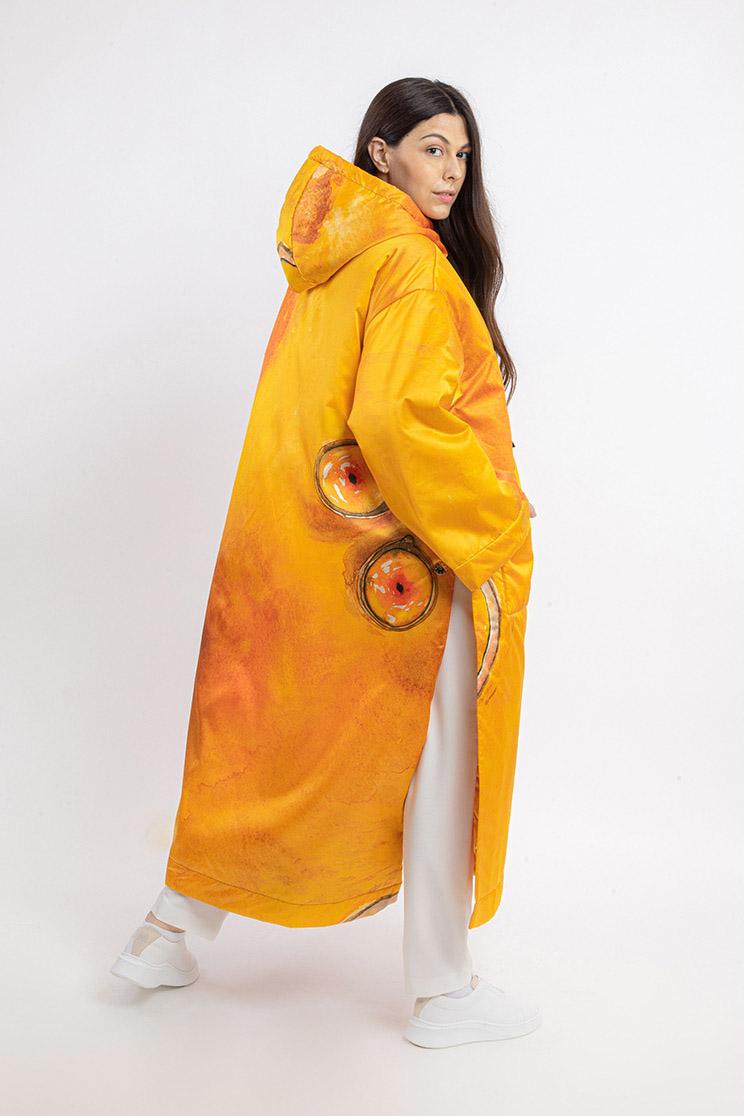 zummy piumino donna giallo retro curvy