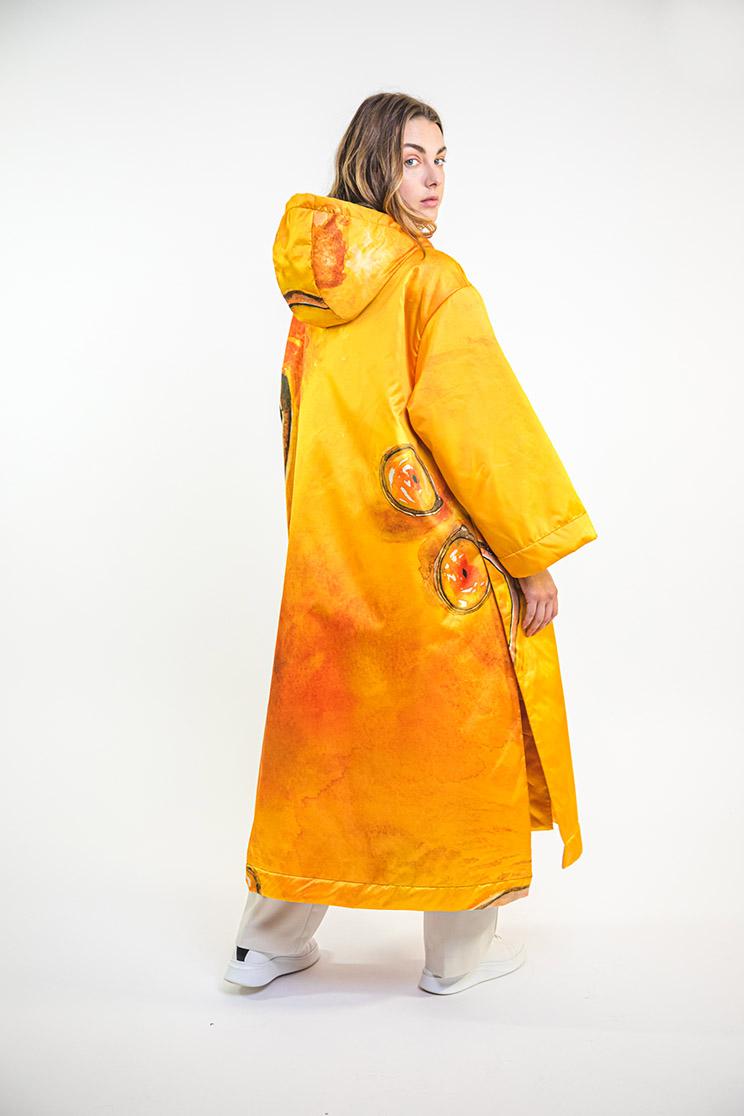 zummy piumino donna giallo retro