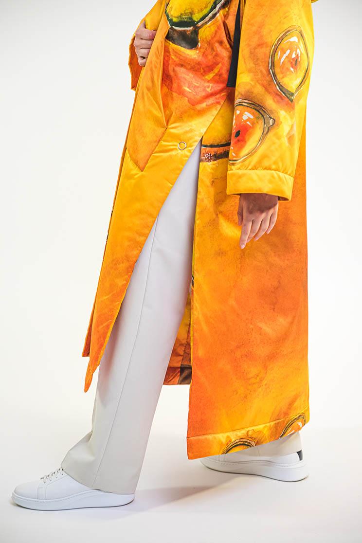 zummy piumino donna giallo spacco