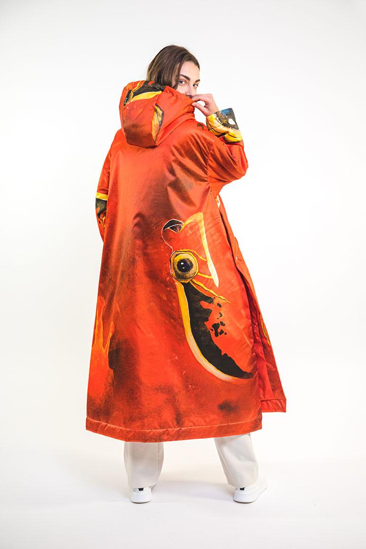 zummy piumino donna rosso retro