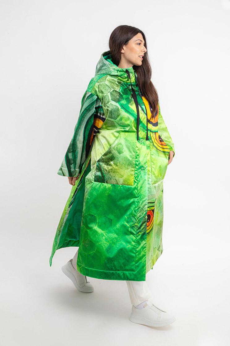 zummy piumino donna verde frontale curvy
