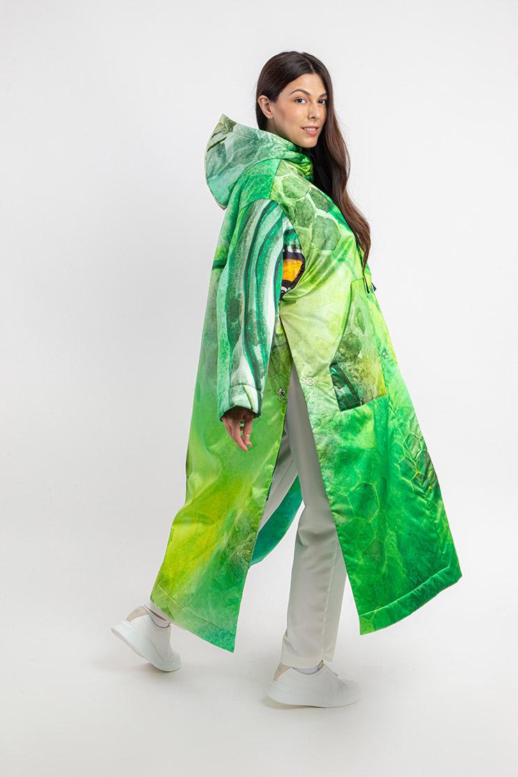 zummy piumino donna verde retro curvy