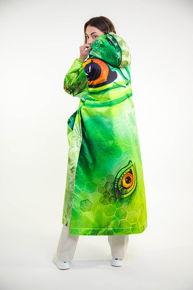 zummy piumino donna verde retro